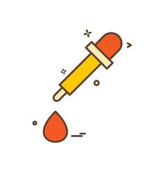 dropper icon design vector image