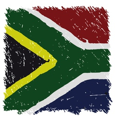 Flag of South Africa handmade square shape vector