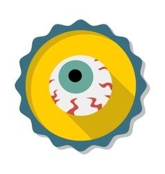 Flat eye vector image