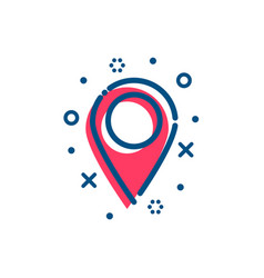 flat outline map pointer icon vector image