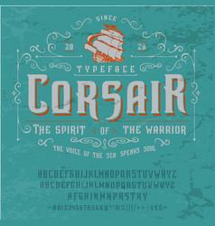 Font corsair vintage typeface design vector