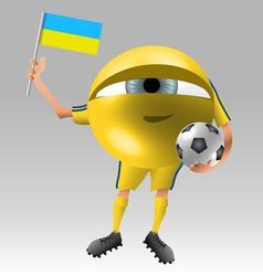 Football ukraine fan eyeball vector image