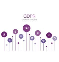 Gdpr infographic 10 steps templatedata e-privacy vector
