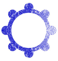 Gear textured icon vector