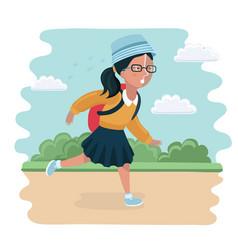 girl going back to school vector image