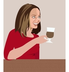 Girl in cafe vector image