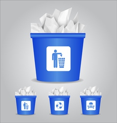Glass bin vector
