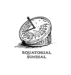 Hand drawn of sundial vector