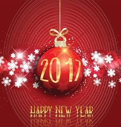 happy new year bauble background 3110 vector image