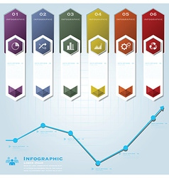 Hexagon Geometric Shape Business Infographic vector image
