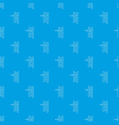 horizontal bar pattern seamless blue vector image