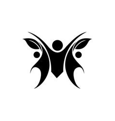 human character logo signhealth care logo nature vector image