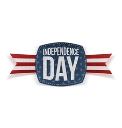 Independence Day realistic Banner with Type vector image