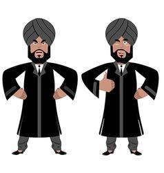 Indian Maharajah set Angry aggressive and good vector image