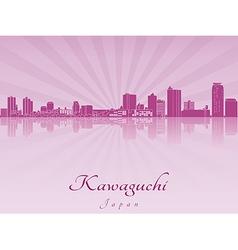 Kawaguchi skyline in purple radiant orchid vector