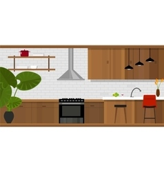 kitchen interior furniture house interior vector image vector image