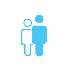 Linear and flat man an woman icon simple flat vector