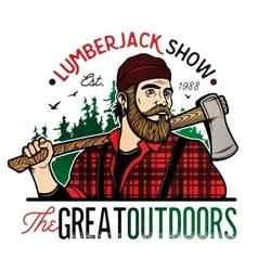 Lumberjack Template Logo vector