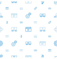 motion icons pattern seamless white background vector image