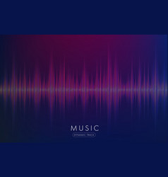 music waves abstract form glowing on dark vector image