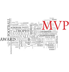 Mvp word cloud concept vector