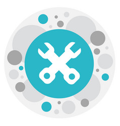 of tool symbol on wrench icon vector image