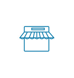 Point of sale linear icon concept point of sale vector