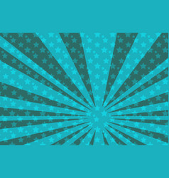 pop art blue star background vector image
