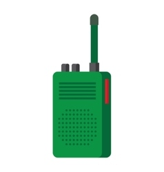 Radio set transceiver with antena vector image
