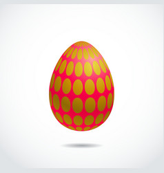 Realistic 3d easter egg vector