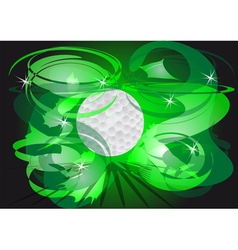 round of golf vector image