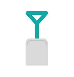 shovel beach isolated icon vector image