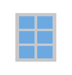 simple window icon isolated on white background vector image