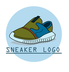 Sneakers line icon vector