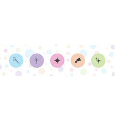Sparkle icons vector