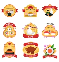 Sushi Label Set vector image