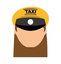 Taxi driver worker icon vector