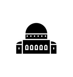 Temple - synagogue icon vector