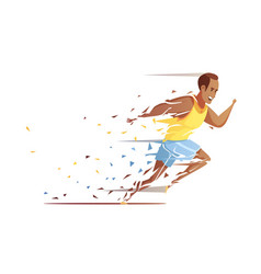 Track athlete shredding concept vector