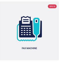 Two color fax machine icon from electronic vector