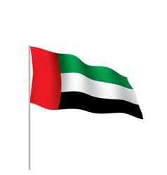 united arab emirates flag vector image