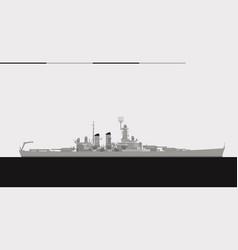 uss north carolina 1941 us navy battleship vector image