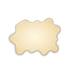 white creamy melt chocolate isolated white vector image