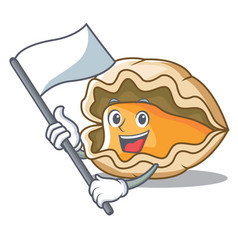 with flag oyster mascot cartoon style vector image