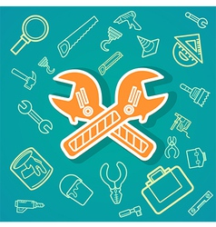 Wrench and Tools icons eps10 vector image