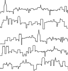 contours of buildings vector image vector image