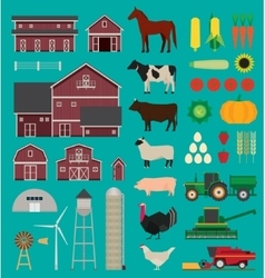 Farm infographic set vector image vector image