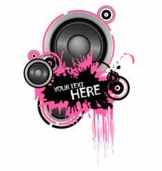 grunge speaker design vector image vector image