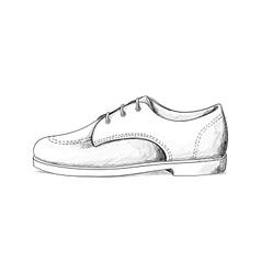 mans shoes vector image