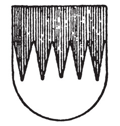 Per fesse dentilly ordinary have zig zag pattern vector